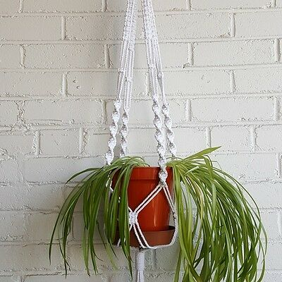 Easy DIY Macrame Plant Hanger Kit, Pot Holder, Chunky Rope, Cord Retro Knotting