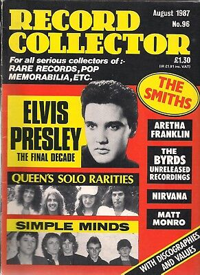 Record Collector  #96 August 1987   The Smiths, Queen, Simple Minds, Nirvana