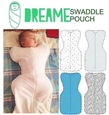 DREAME swaddle pouch cotton newborn infant baby sleeping sack
