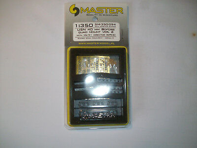 Master Model, SM-350-092, USN Bofors 40 mm Twin Mount Vers. 2 (6 PCS), 1:350