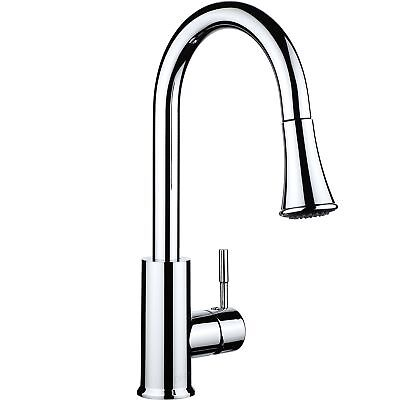 pH7 Single Handle Pull Down Sprayer Kitchen Sink Faucet Stainless Steel Kitch...