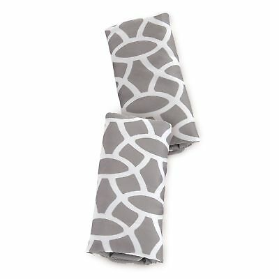 Goldbug Reversible Strap Covers for Carseats Strollers Swings Giraffe- Grey W...