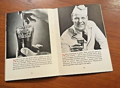 Coca Cola 1933 A Good Mixer Soda Fountain Bell Shaped Glass Booklet Paper
