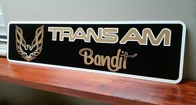 "Trans Am Bandit Aluminum Sign 6"" x 24"""