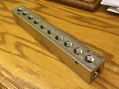 New Polyconn Nickel Plated 10 Port Manifold Pcm20-250-10Np Polycon #3