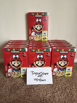 Super Mario Odyssey Cereal Limited Edition Nintendo Amiibo Worldwide Shipping!!
