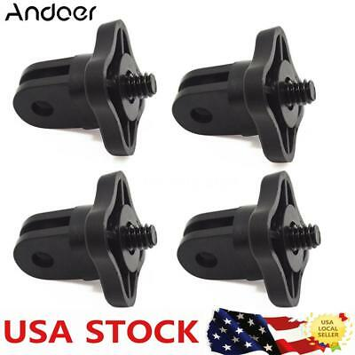"""4pcs Andoer Adapter 1/4""""Tripod .Thread for Camera DSLR to Any Go-Pro Mount W4H7"""