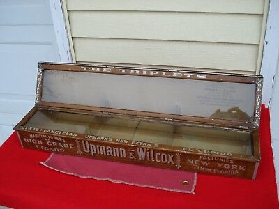 Vintage Upmann Wilcox Cigar Humidor Show Case, Display & Sale, 5 Cent, Original