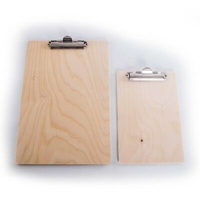 Wooden Clip Board / A4 or A5 /Single or Set /Office Paper Hardboard /Strong Clip