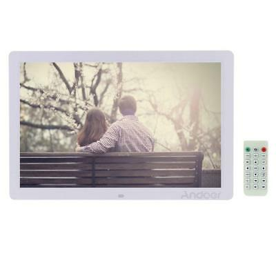 """17""""HD LED Digital Photo Picture Frame Advertising Machine Alarm Clock MP4 Player"""