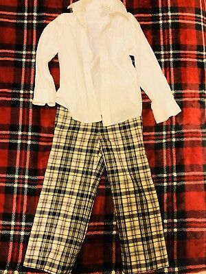 ba90c1548 Janie and Jack Button Down White Shirt and Wool Plaid Pants size 3T Toddler  Boys