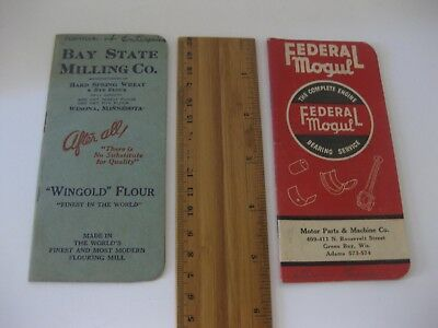 Vintage Advertising Calendar/Notepad 1949/50 & 1950  Federal Mogual & Bay State