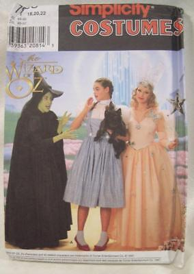Simplicity 7808 Wizard of Oz Plus Size 18, 20, 22 Costume UNCUT Sewing pattern