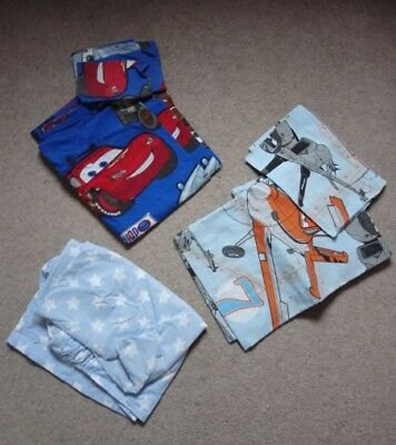 Disney cars planes junior duvet covers cot bed toddler with fitted sheet stars