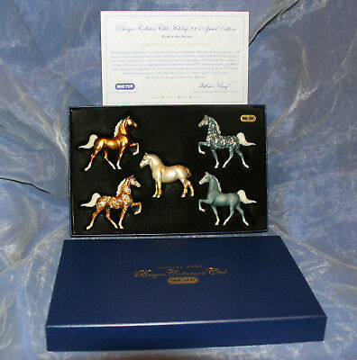 Breyer Collector Club Holiday 2004 Decorator Stablemates with Gold Draft