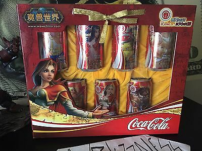 2005 World of Warcraft China Coca-Cola Coke Can BLIZZARD iCOKE COMMEMORATIVE SET