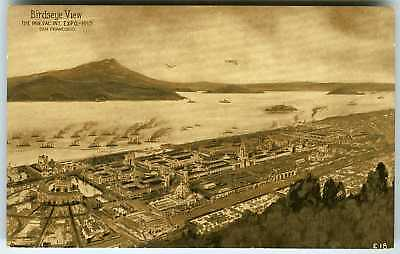 1915 SAN FRANCISCO PPIE PANAMA-PACIFIC~RARE OFFICIAL POSTCARD of EXPOSITION CITY