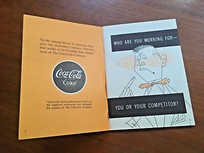 Coca Cola 1950s Selling Soda Fountain Syrup Sales Booklet Paper