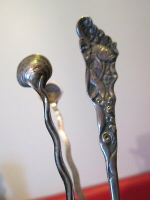 2 pc Early GORHAM - STERLING - HIZEN 1880 Spoon w/Fish & SEASHELL Tongs -