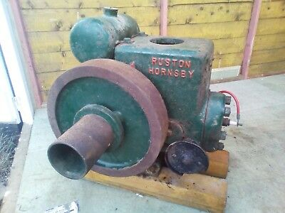 Vintage Ruston Hornsby 1 1/2Hp Pb Petrol Stationary Engine Good Runner Barn Find