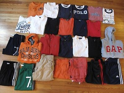 26 Pc Lot Boys Clothes: 10 RL Polo; 9 Gap; 3 Adidas+ Tees Polos Sweaters Pants+