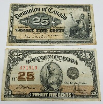Dominion of Canada 25C 1900 Courtney 1923 Saunders