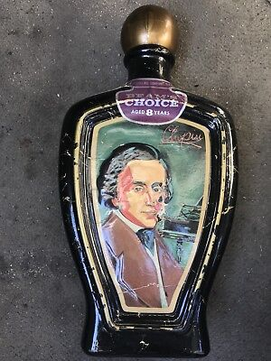 Vintage Beam's Choice Jim Beam Frederic Chopin by Edward H Weiss Decanter Bottle
