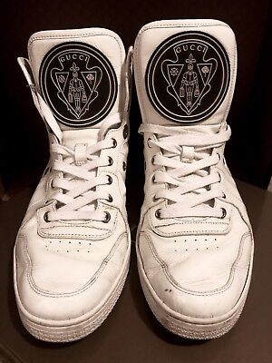 Gucci Mens Patent Coda High-Top Sneaker / Trainer - White. Size 9. RRP £350
