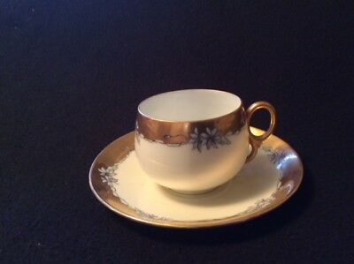 Vintage*Hand Painted*China*Cup And Saucer*
