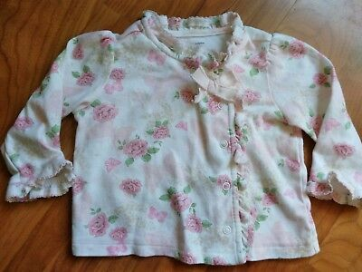 6-9M Baby Girl Infant First Impressions Floral Layette Kimono Pajama Top