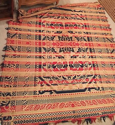 Antique Coverlet Dated 1853