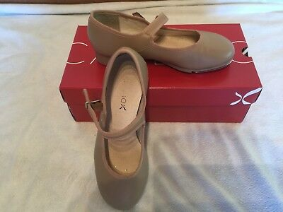 Girl's Capezio Mary Jane Tap Shoes Leather Tan Size 4M