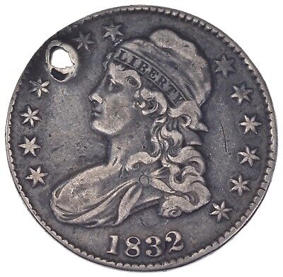 Rare - 1832 BUST Half Dollar - Great Detail - United States Type Coin *952