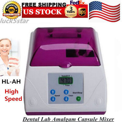 Electric Dental Lab Amalgam Capsule Mixer Blender HL-AH High Speed Amalgamator