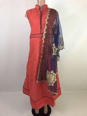 $60 Compare $299 Anarkali Suit with heavy Dupatta  Indian Suit size 40 42 44 46