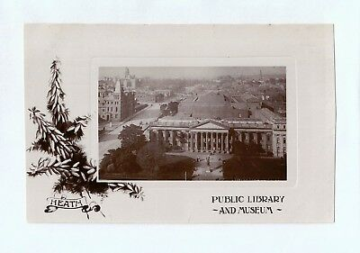 A0268cgt Australia V Melbourne Library and Museum c1909 vintage postcard
