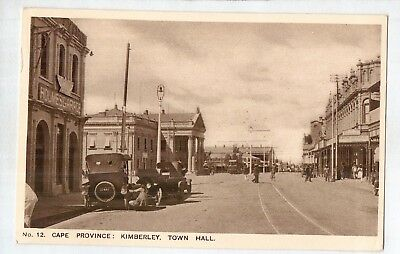 E3612ldd South Africa Cape Province Kimberley Town Hall c1930 vintage postcard