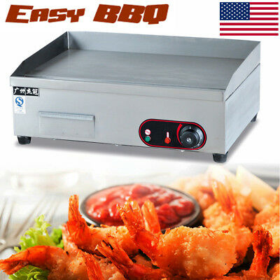 55CM 3KW Commercial Electric Griddle Cooktop BBQ Grill Kitchen Countertop Grill