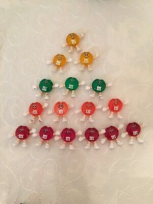 M&M's Happy Lights Christmas Patio Figural Light Covers 16 no cord scuffed worn