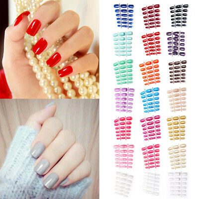 Hot Sale Coloured Flexi False Nails Art/Full Cover UK seller
