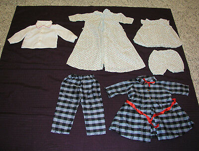 1950s 1960s Child Doll Hand Made Blouse Robe Pajamas Coat Pants Lot 5 Vintage