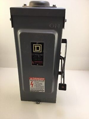 square D H221N switch fusable safety electrical box 30 amp USED CONDITION