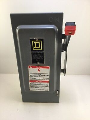square D H361 switch fusable safety electrical box 30 amp USED CONDITION