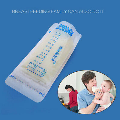 30 Pcs 250ml Breast Milk Storage Bag Self-standing Pre-sterilised Freezer Pouch
