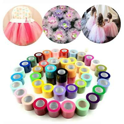 Shining Tissue Tulle Roll Tutu Spool Wedding Party Wrap Fabric Decor 5 cm*25yard
