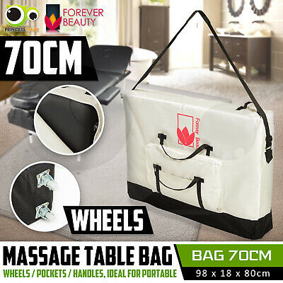 Deluxe Wheeled Carry Bag Case on Wheels For Massage Table Portable Therapy 70cm