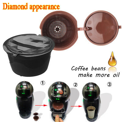2~4 PCS Refillable Reusable Coffee Capsules Pod Cup for Nescafe Dolce Gusto