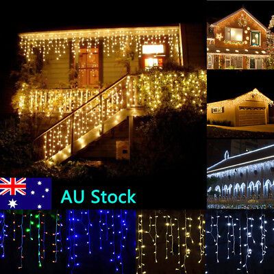 3M/4M/5M Led Curtain Icicle Fairy String Lights Window Garden Wedding Decor Lamp