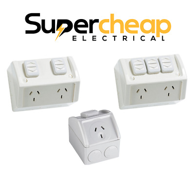 Weatherproof Power Point Outlet Socket Weather GPO Water Proof External Outdoor