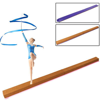 Training Home Gym Kids Folding Gymnastics Balance Beam 8ft Cheer leading
